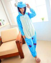 Hot New Adult Animal Onesie Monster's Sully Onesies Halloween Sulley Clothing Cosplay Sullivan Costume Pajamas(China (Mainland))