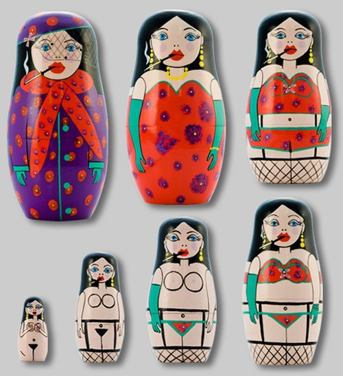racy nesting dolls....you know who these are for @Juliya Krizhanovskaya Krizhanovskaya Krizhanovskaya McAllister ...