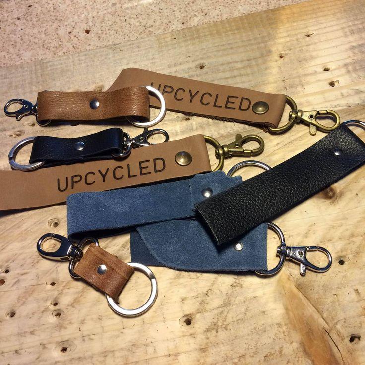 Leren sleutelhangers van Upcycled.nl Hergebruikt leer.