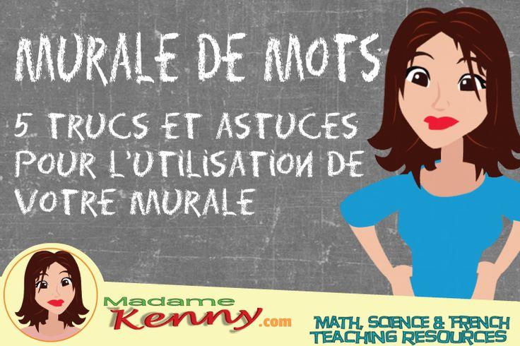 Je discute comment j'utilise la murale de mots ou autrement dit le mur de mots dans ma classe d'immersion interm�diaire. #muraledemots #murdemots #immersioninterm�diare
