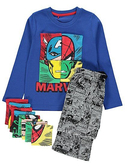 Marvel Comics Puzzle Piece Pyjamas, read reviews and buy online at George at ASDA. Shop from our latest range in Kids. Your little Marvel Comics fan will get...