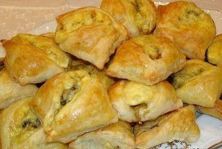 Самые вкусные рецепты: Закусочные пирожки с грибами и сыром