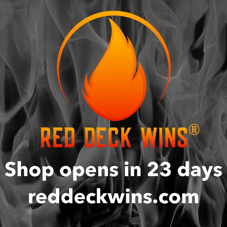 Only 23 days until our Red Deck Wins grand opening! Visit now to sign up for alerts and hear when new product drops. #reddeckwins #rdw