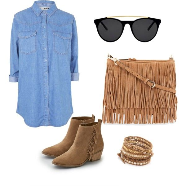 Countryside  by catarina-teixeira-de-queiros on Polyvore featuring polyvore fashion style Topshop American Eagle Outfitters Rebecca Minkoff Chan Luu Smoke & Mirrors country