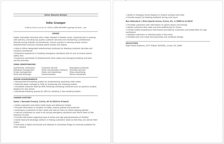 125 best resume sample images on pinterest