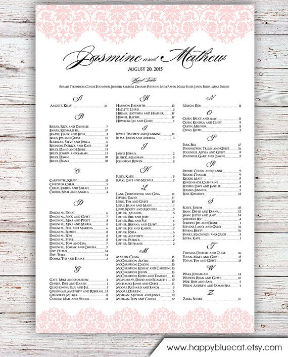 375 best Weddings images on Pinterest Wedding seating charts - free printable seating chart