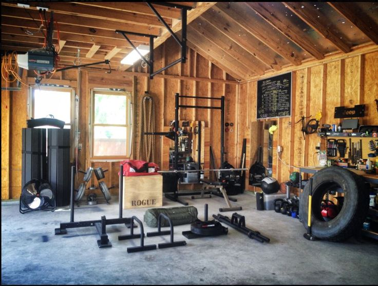 Crossfit garage gym home pinterest