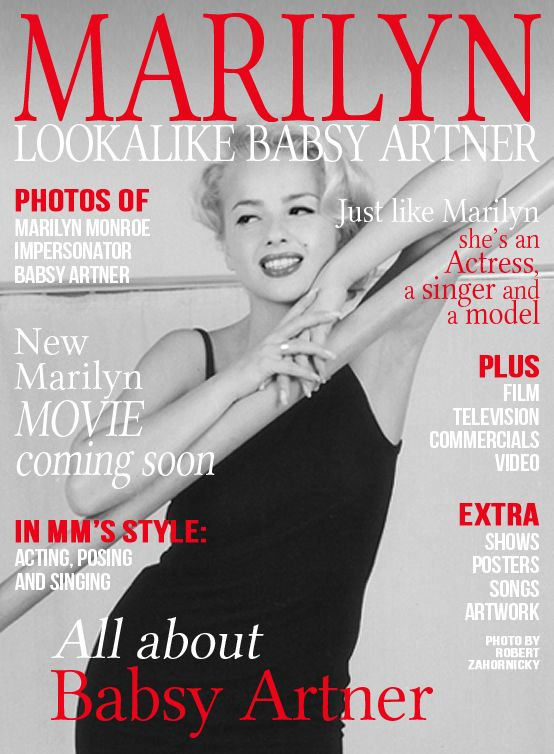 """Babsy Artner is a professional actress and Marilyn Monroe lookalike who will soon star in """"Marilyn Fan"""" - The Movie. Find out more about her and the upcoming film by visiting her on https://www.facebook.com/MarilynMonroeLookalike. #marilyn #monroe #lookalike #impersonator #film"""