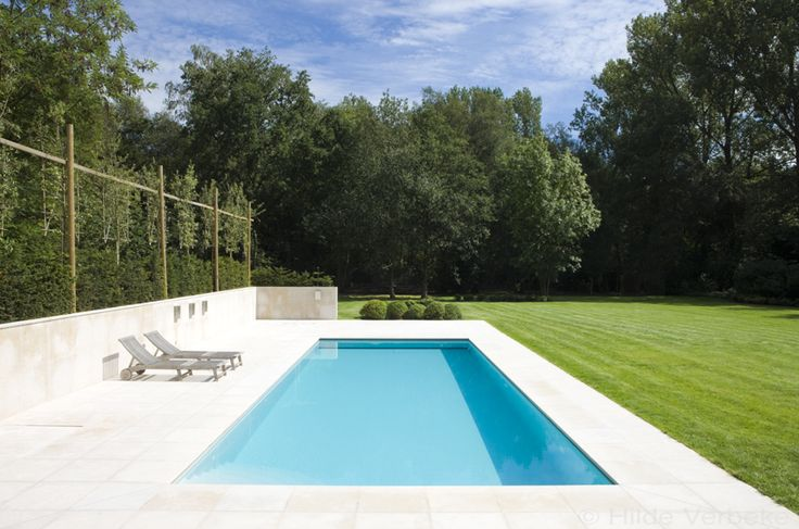 Buitenzwembad, betonnen zwembad bij moderne woning ‹ De Mooiste Zwembaden