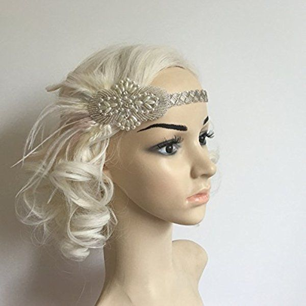 Braut Feder Stirnband Flapper Kostüm Haarband Kopfstück 1920 Der Art Und Weise