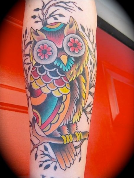 Owl tattoos are adorable.