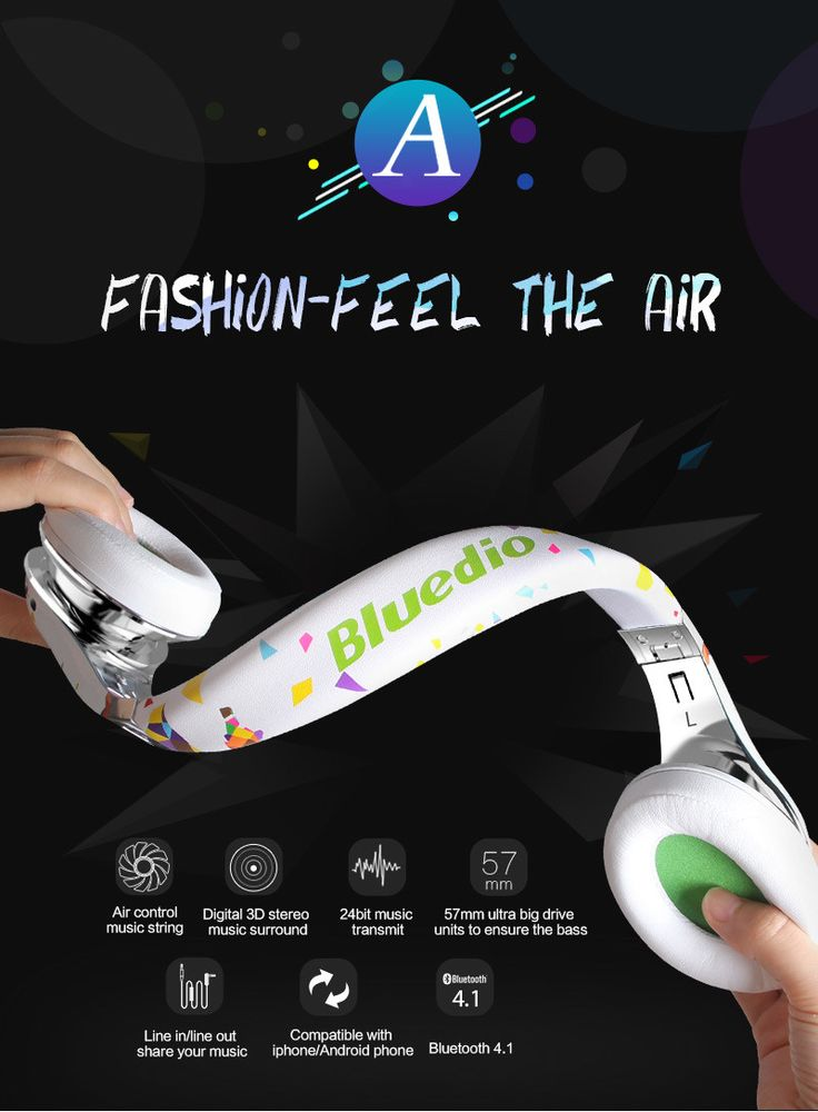Bluedio A (Air) Fashionable Wireless Bluetooth Headphones with Microphone, HD Diaphragm, Twistable Headband, 3D Surround Sound   Read more at Electronic Pro Market : http://www.etproma.com/products/bluedio-a-air-fashionable-wireless-bluetooth-headphones-with-microphone-hd-diaphragm-twistable-headband-3d-surround-sound/
