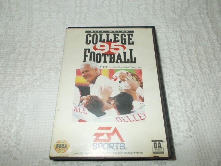 Sega Genesis Bill Walsh College Football '95 Video Game Complete In Box  #SEGA