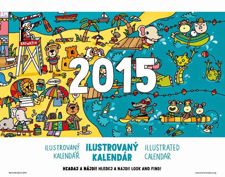 Maria Neradova Illustration: Ilustrovaný kalendár na rok 2015