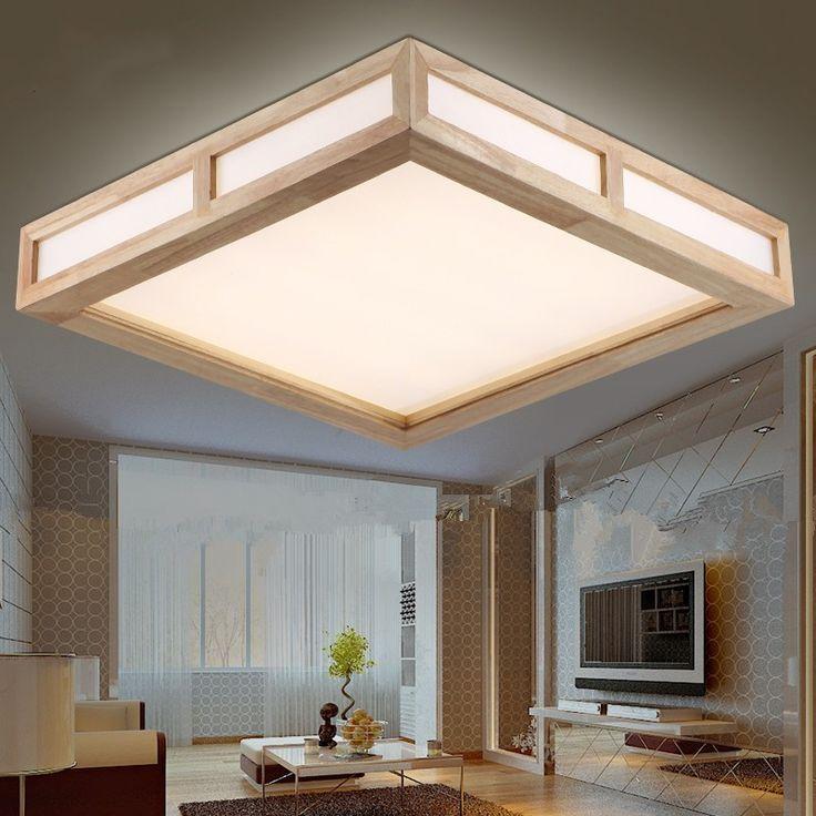Free Доставка Современный дом освещение дерево гостиная led потолочные светильники Новая концепция дизайна деревянные потолочные лампы для спальни дома купить на AliExpress