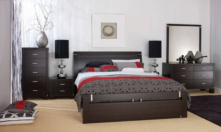 Berlin Bedroom Furniture - Contemporary Furniture Crafted from premium quality Medium Density Fibreboard (MDF) and tastefully complemented with chrome accents, the Forty Winks 'Berlin' bedroom suite makes a unique statement in contemporary style and sophistication.