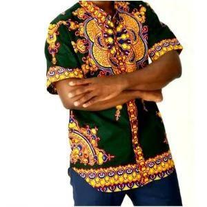 GREEN AFRICAN DASHIKI MEN'S SHIRT - Zabba Designs African Clothing Store  - 1