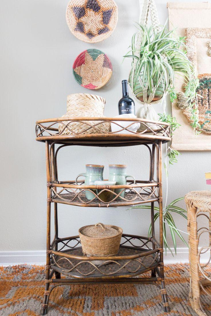 Bamboo bathroom shelf unit - Vintage Bamboo Shelf Or Bar