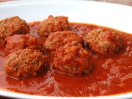 Meatballs with Tomato Sauce from CookingChannelTV.com