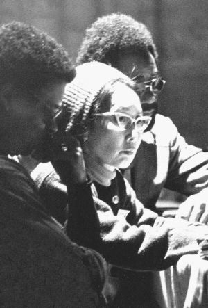 Yuri Kochiyama is a Japanese American human rights activist, but often remembered for her work in The Black Panther Party. Over the years, Kochiyama has dedicated herself to various causes, such as the rights of political prisoners, freeing Mumia Abu-Jamal, nuclear disarmament, and reparations to Japanese Americans who were interned during the war.