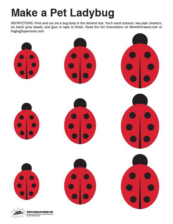 Free Ladybug Craft template
