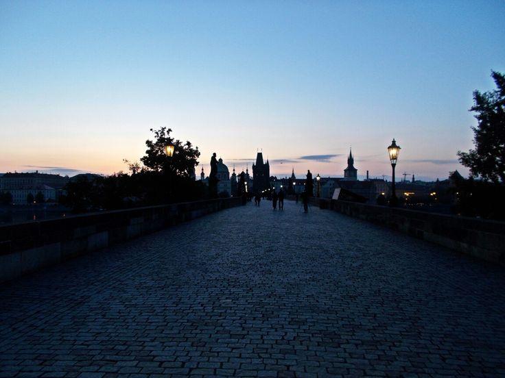 Charles Bridge in the morning
