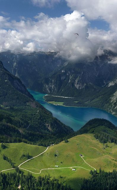 The Königssee is a lake located in the extreme southeast of the German state of Bavaria, near the border with Austria