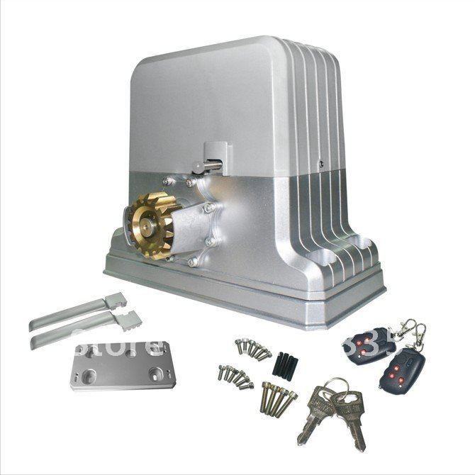 electric gate motor with remote control and alarm system 1800KG(China (Mainland))