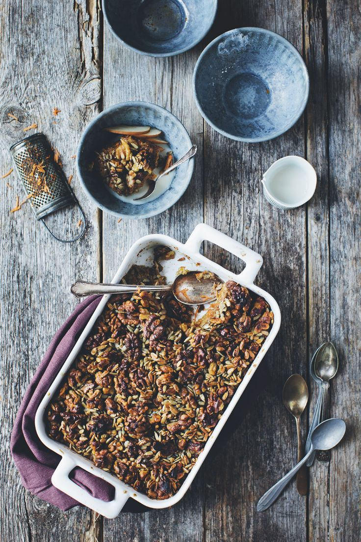 Baked oatmeal carrot cake style