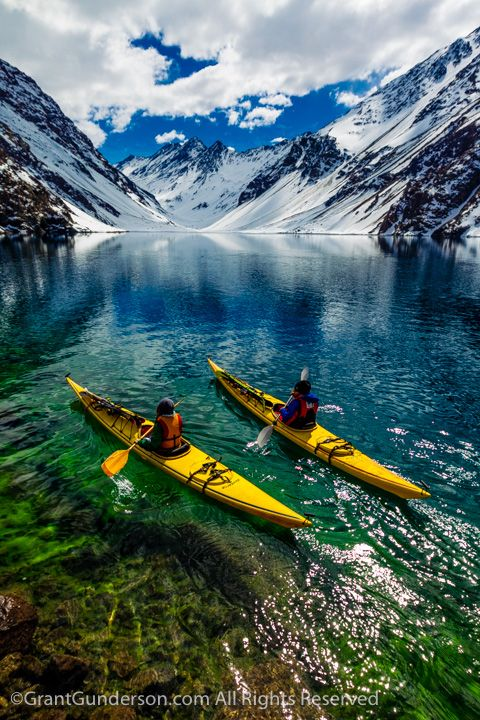 #LL @LUFELIVE #thepursuitofprogression #Kayaking Laguna de Incas in Portillo, Chile
