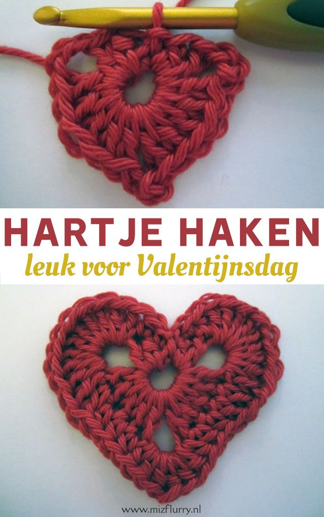 gratis haakpatroon hartje | crochet | crochet patterns, crochet et