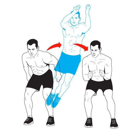 Men's Health - Celebrity Fitness - Lateral Hop