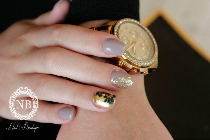 #grey#nails#manualpainting