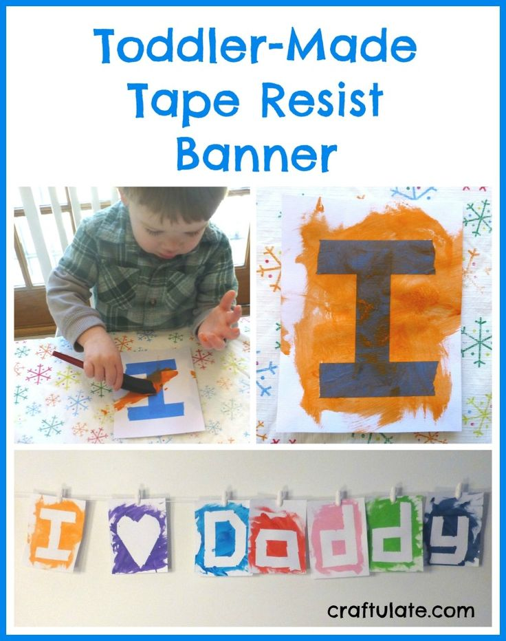 Toddler-Made Tape Resist Banner