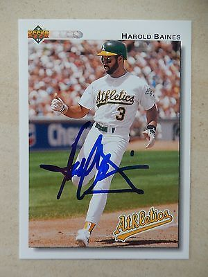 #Harold #baines #autographed 1992 upper deck baseball card,  View more on the LINK: http://www.zeppy.io/product/gb/2/281852845206/