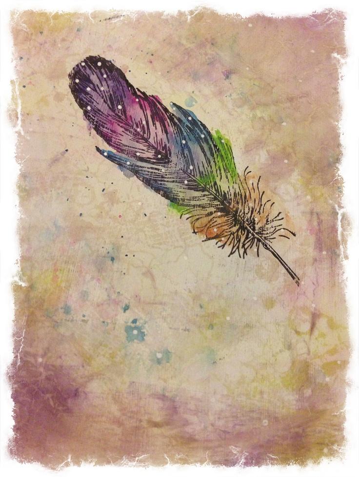 Sheena Douglass feather stamp