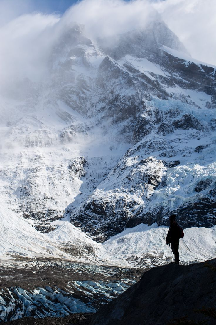Facing the giant Paine Grande - Torres del Paine NP, Chile #Patagonia