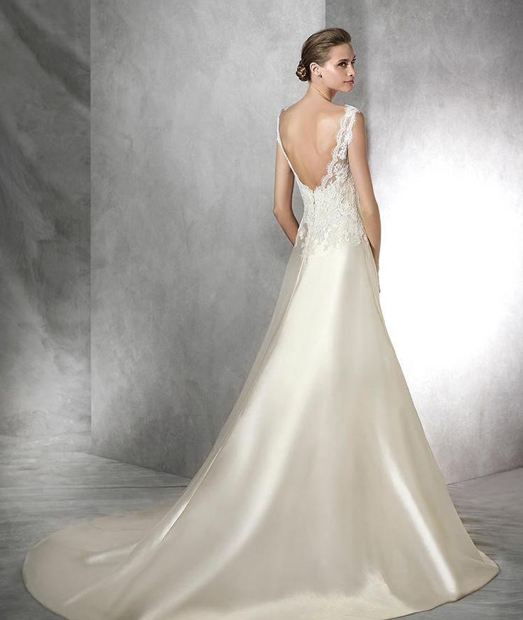 Tulle Overskirt Wedding Dresses Mermaid Bateau Neck Simple: Style TERI 2016 PRONOVIAS Simple Dress With Bateau