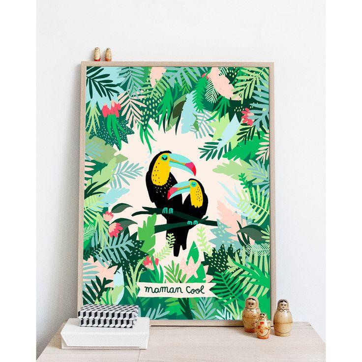 Affiche Maman Cool par Michelle Carlslund - Edition limitée - émoi émoi | émoi émoi