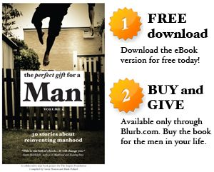"To raise awareness about the high rates of male suicide in Australia, Mark Pollard and I created The Perfect Gift for a Man - a crowd sourced book collecting stories that seek to ""reinvent manhood"""