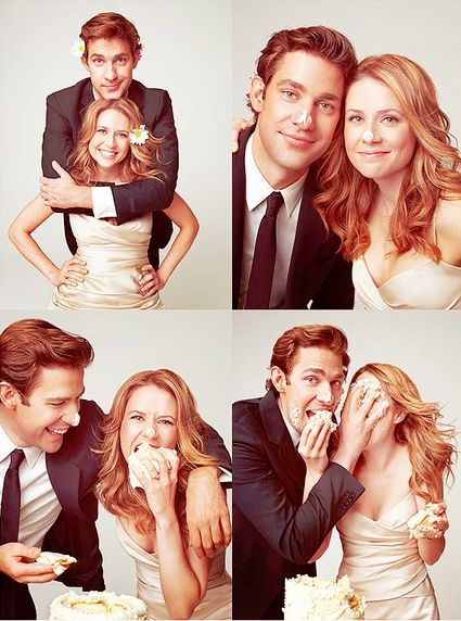 Jim and Pam on the Office