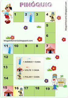 Bloguinho da Vânia: Jogo trilha: Pinóquio