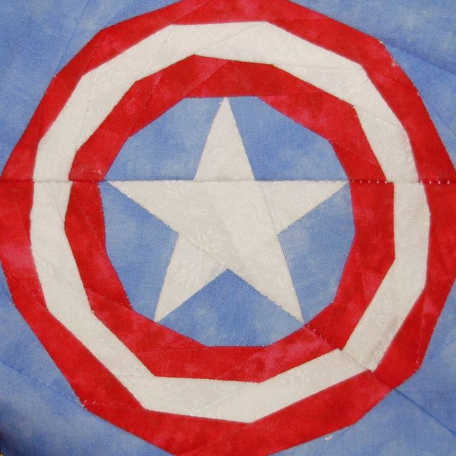 Captain America By Liljabs Paper Piecing Quilt Patterns