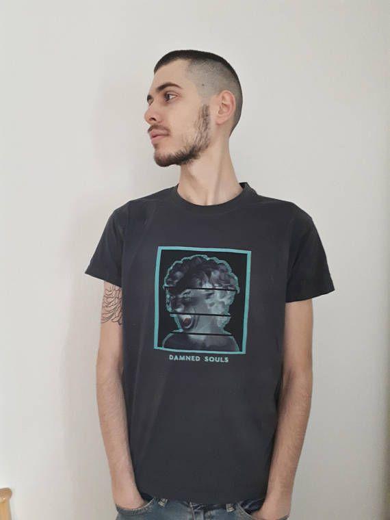 Dark Graphic Gray T-shirt Tee Tshirt Dystopians
