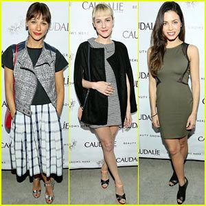 Rashida Jones Meets Up with Jena Malone & Jenna Dewan at Caudalie Boutique Spa Opening