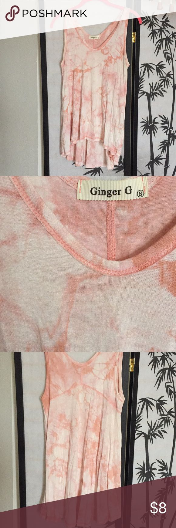 Ginger G boho tie dye pink top. Never Worn! Usher in a boho chic look in this pretty pink tie dye tank! Perfect to pair with leggings or jeans! Ginger G Tops Tank Tops