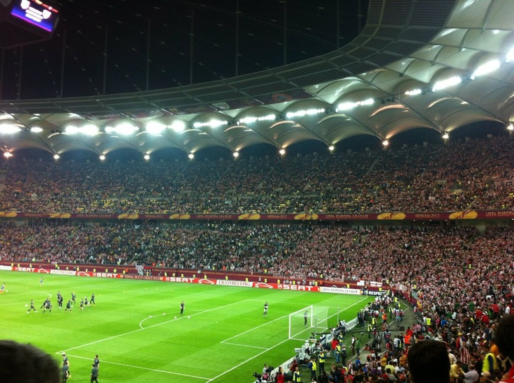 Arena Nationala pregatita pentru meciul Athletico Madrid - Athletic Bilbao Finala UEFA Europa League