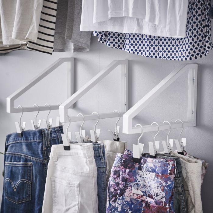 EKBY LERBERG console | #IKEA #garderobe #kledinghanger #slaapkamer