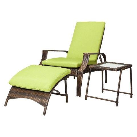 For Patio    Belmont Brown Wicker Patio Wicker Lounge Set   Green From  Target