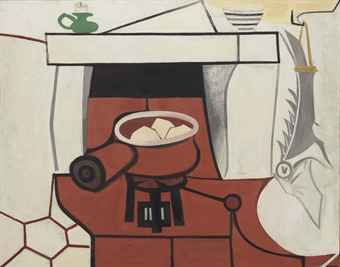 La Hotte (Country Kitchen), 1951. By Françoise Gilot (France, born 1921). Oil on canvas.